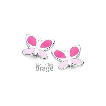 Oorringen Orage Kids K1856 vlinder roze