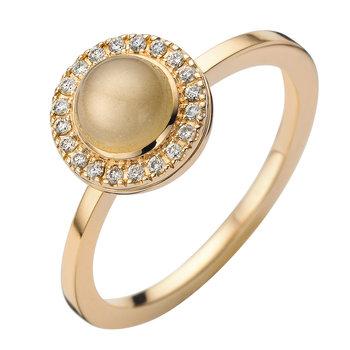 ring Moondrops roze goud 18kt/br M007R12BMR