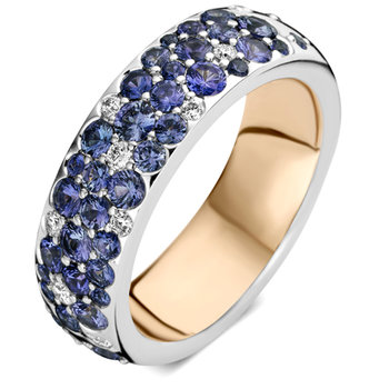Ring Roos 18kt wit goud 18kt/br./sf. 079R170BSW18