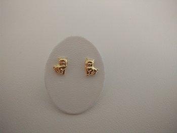 kinderoorbellen goud poesjes 6057