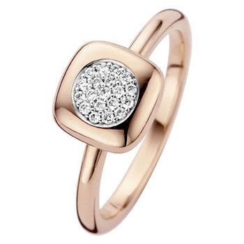 ring Moondrops wit goud M069R11W18