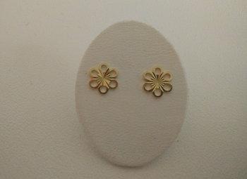 Gouden kinderoorringen bloem KIDSE041