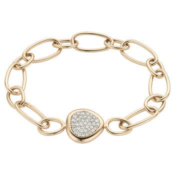 Armband Roos 18kt rood goud met briljant