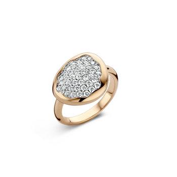 Ring Roos 18kt in rood en wit goud 18kt/br.136R78RW18