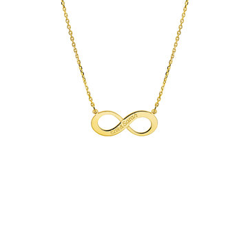 Infinityketting met 2 namen
