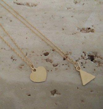 Ketting geel goud driehoekje 60264