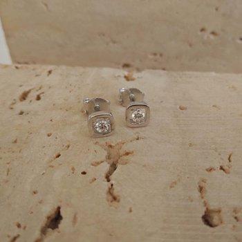 Gouden Oorbellen met diamant 60374