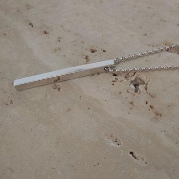 Gepersonaliseerde staaf ketting zilver
