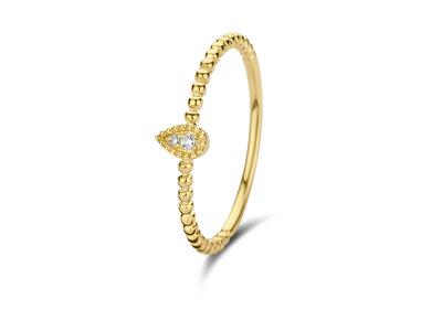 verlovingsring geel goud 18 karaat